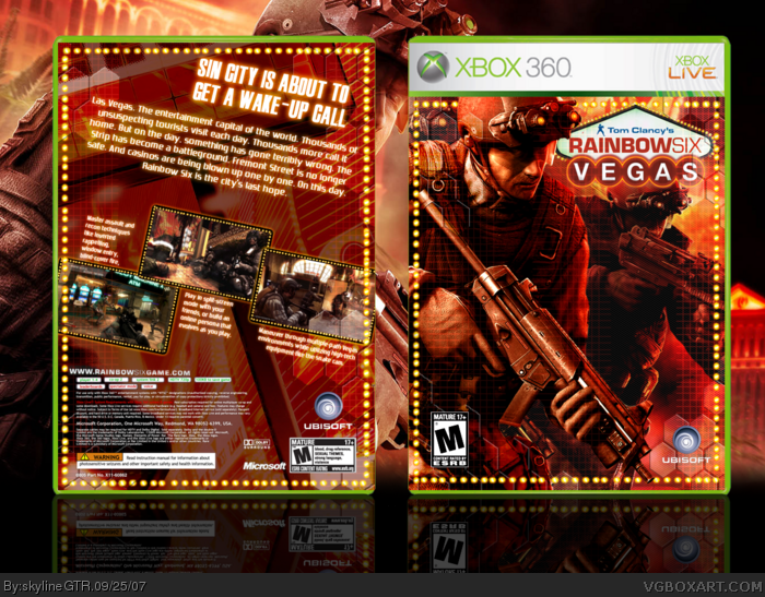 Tom Clancy's Rainbow Six Vegas box art cover