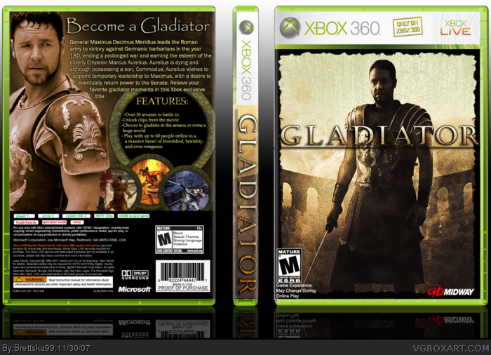 Gladiator box art cover