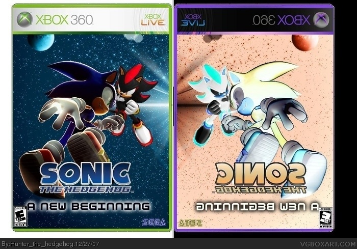 Sonic The Hedgehog A New Beginning Xbox 360 Box Art Cover By Hunter The Hedgehog