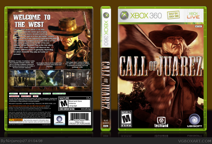 Call of Juarez box art cover