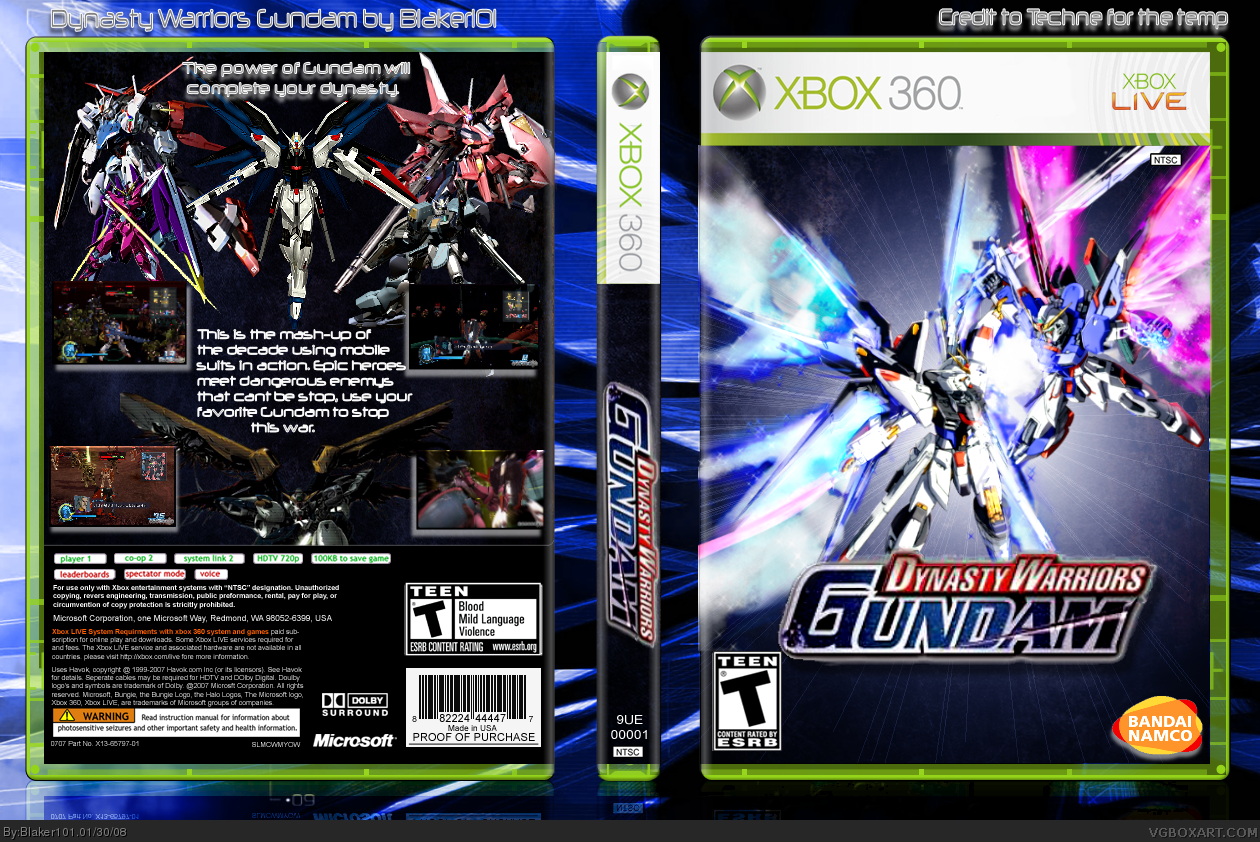 Dynasty Warriors Gundam box cover