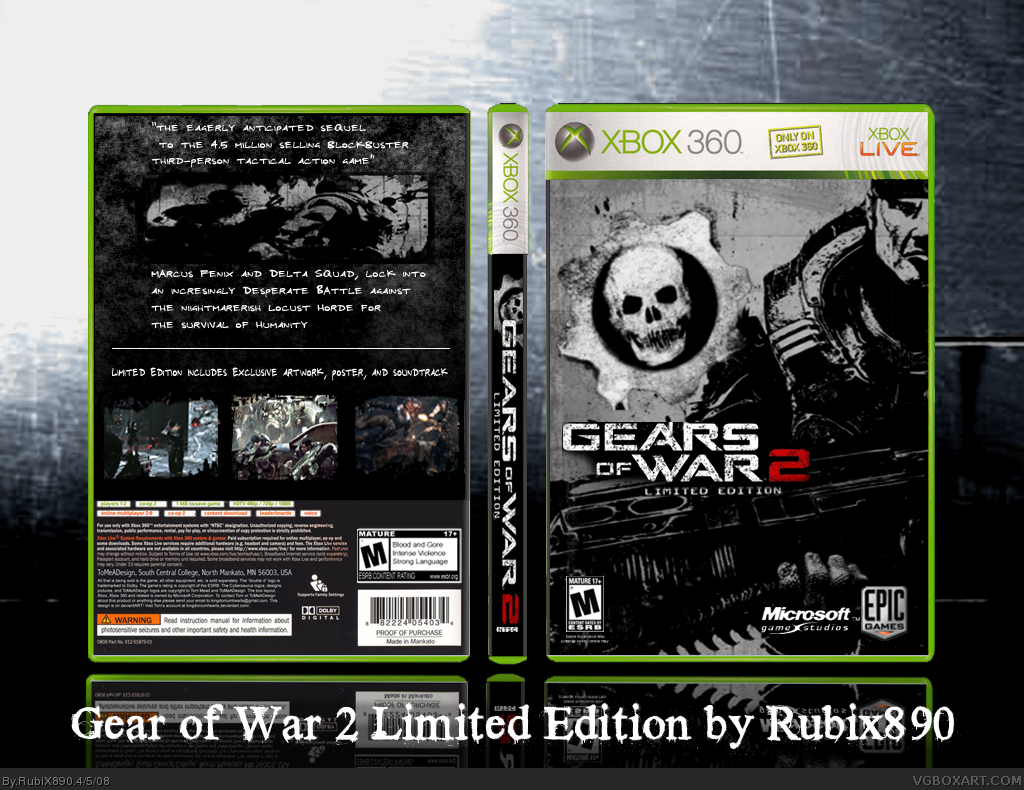 Gears of War 2 Limited Edition box cover