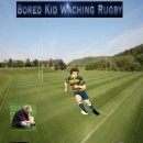 Bored kid watching rugby Box Art Cover
