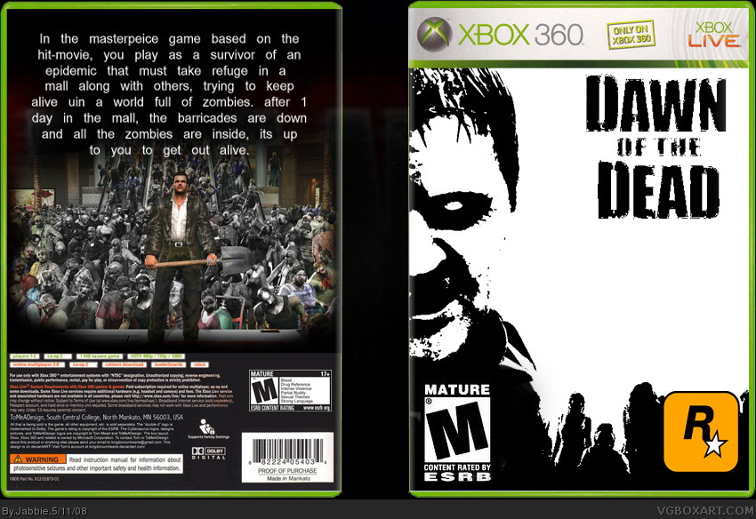 dawn of the dead box cover
