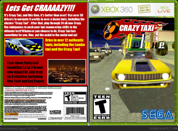 Crazy Taxi Deluxe box art cover