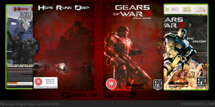 Gears of War 2 Limited Edition box art cover