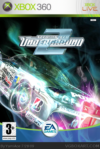 Need For Speed Underground 2 Xbox 360 Box Art Cover By Yamiace
