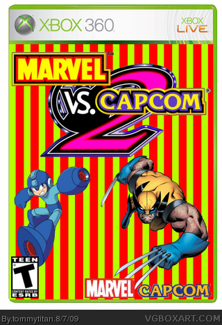 Marvel Vs. Capcom 2 box cover