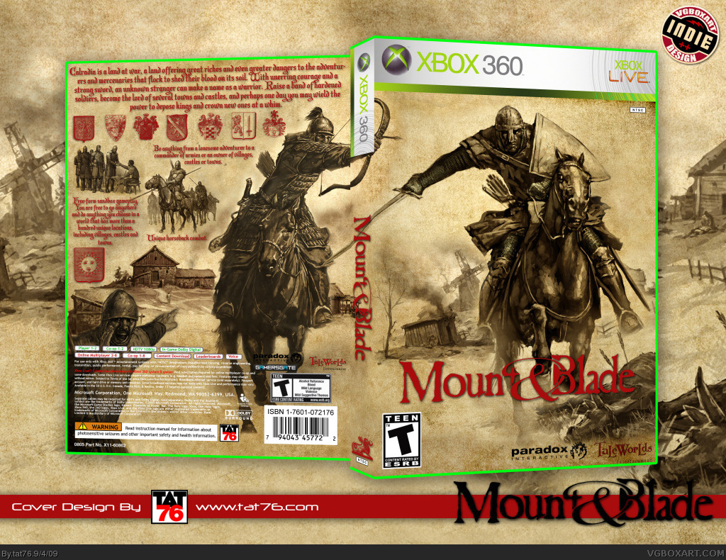 Mount & Blade box cover