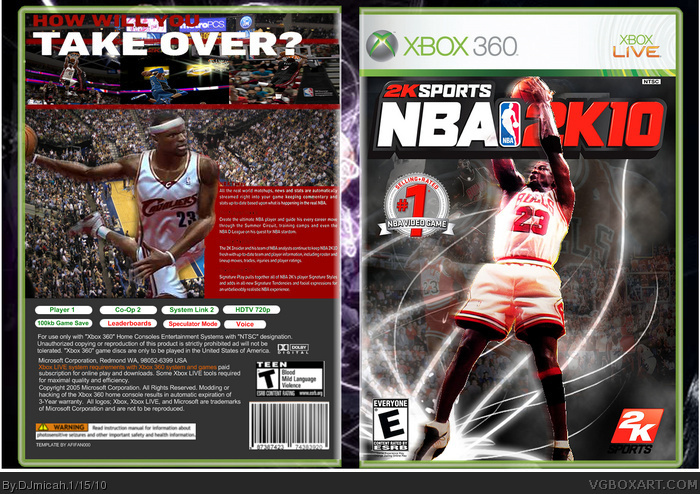 NBA 2k10 box art cover