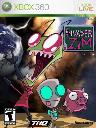 Invader Zim box cover