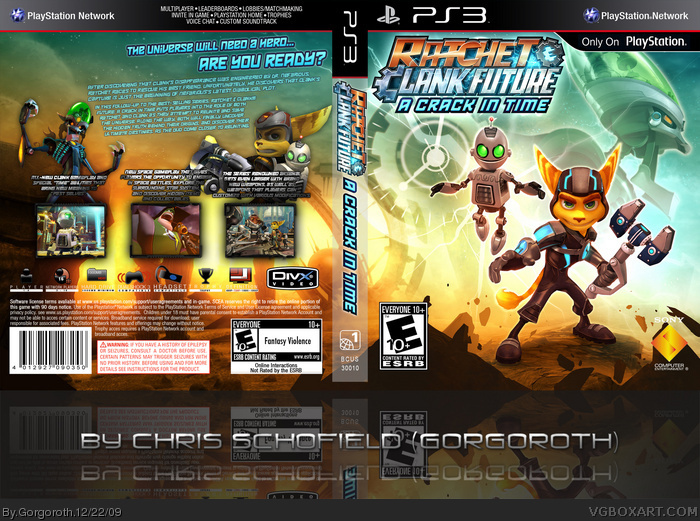 Ratchet and Clank Future: A Crack In Time box art cover