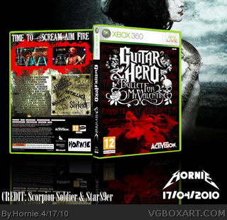 Guitar Hero Bullet For My Valentine Xbox 360 Box Art Cover By Hornie