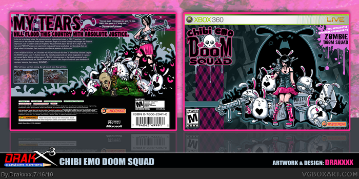 Chibi Emo DOOM SQUAD box art cover