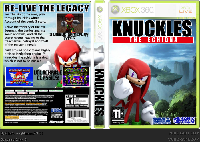 Knuckles The Echidna box cover