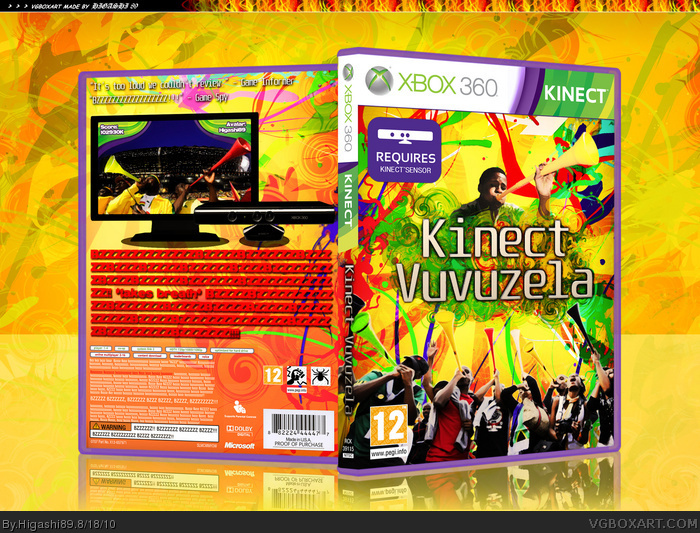 Kinect Vuvuzela box art cover