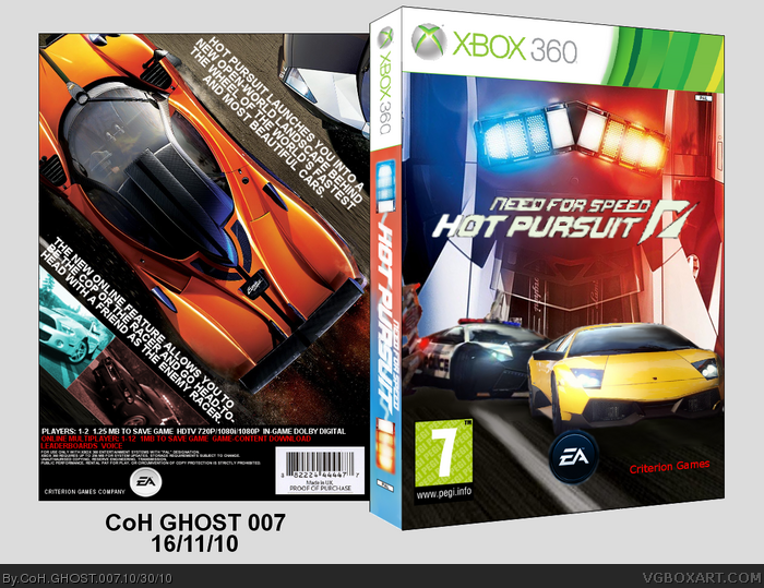Need for Speed Hot Pursuit (2010) box art cover
