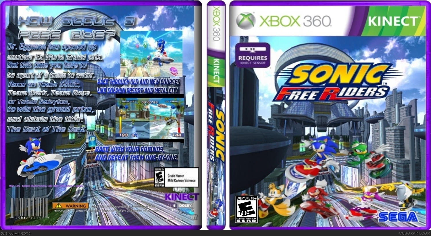 Sonic Free Riders box cover