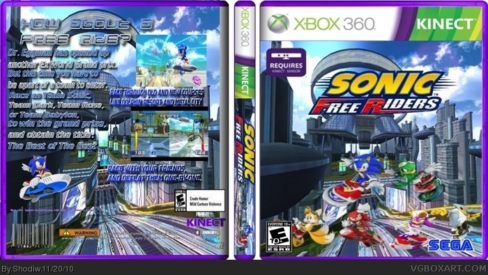 Sonic Free Riders box art cover