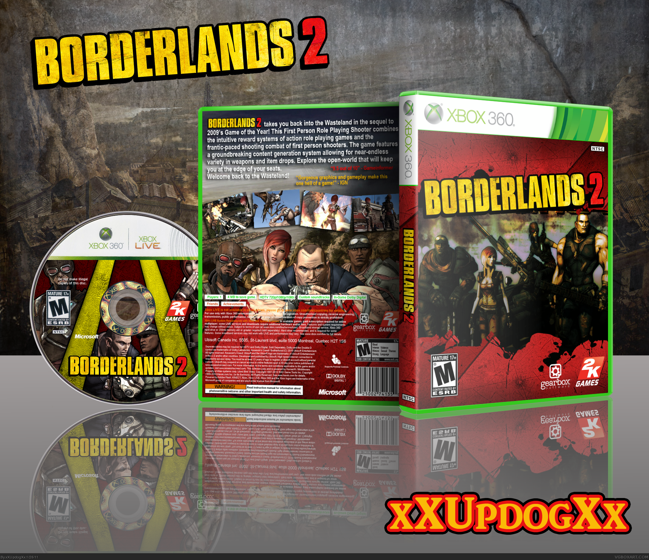 Borderlands 2 box cover