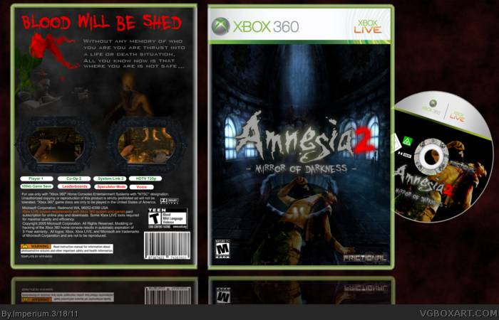 Amnesia 2 -Mirror of darkness- box art cover
