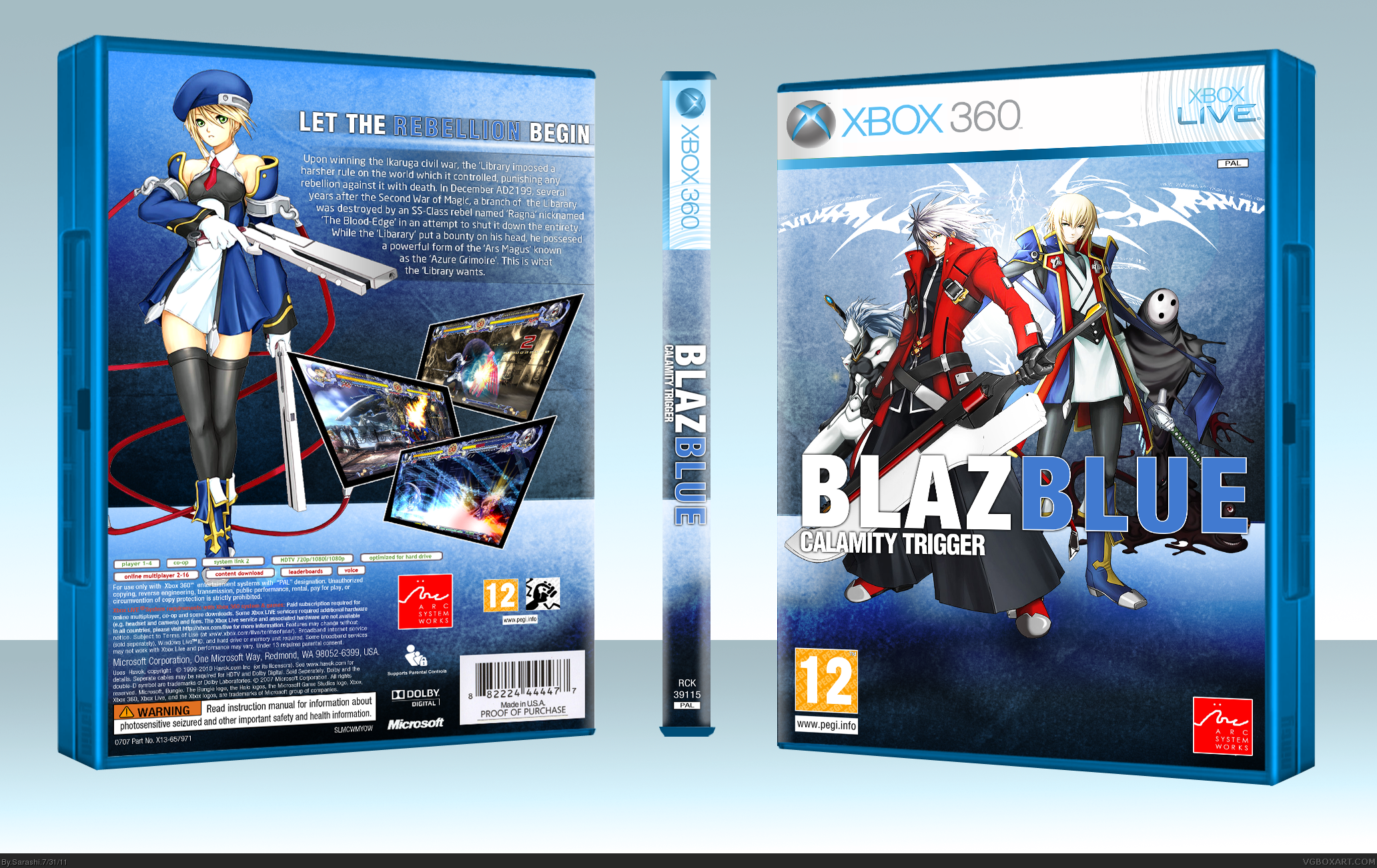 BlazBlue: Calamity Trigger box cover