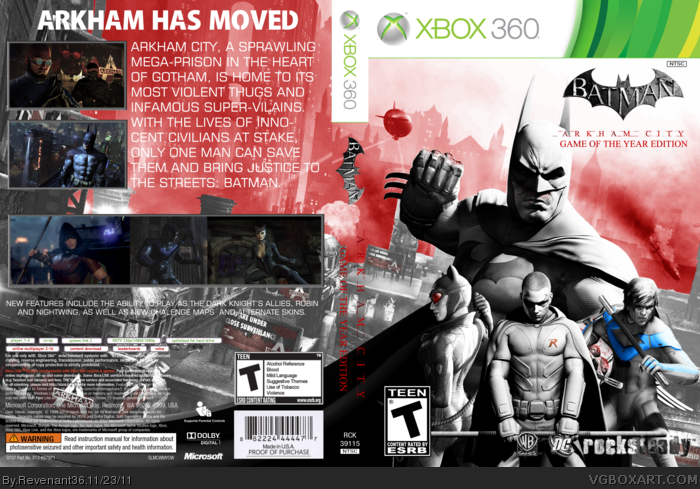 Batman: Arkham City (GOTY Edition) box art cover