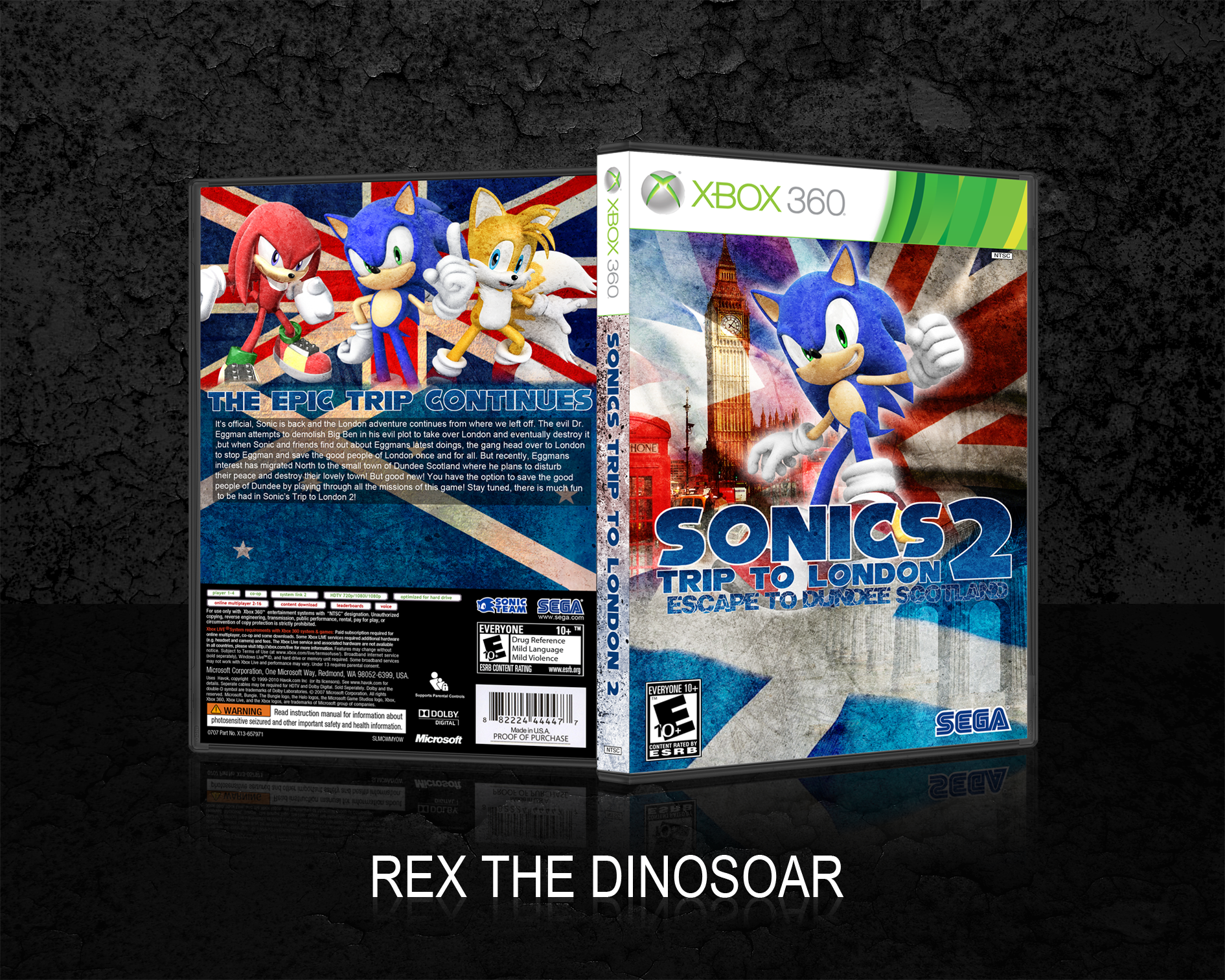 Sonic's Trip to London 2 box cover