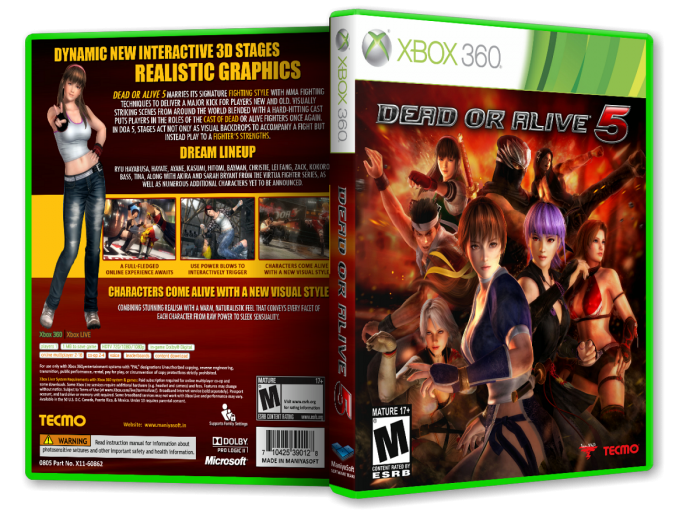 Dead or Alive 5 box art cover