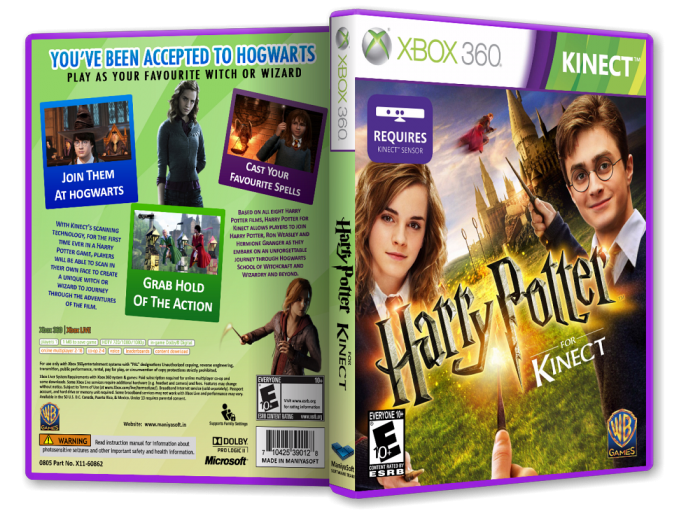 Harry Potter for Kinect box art cover