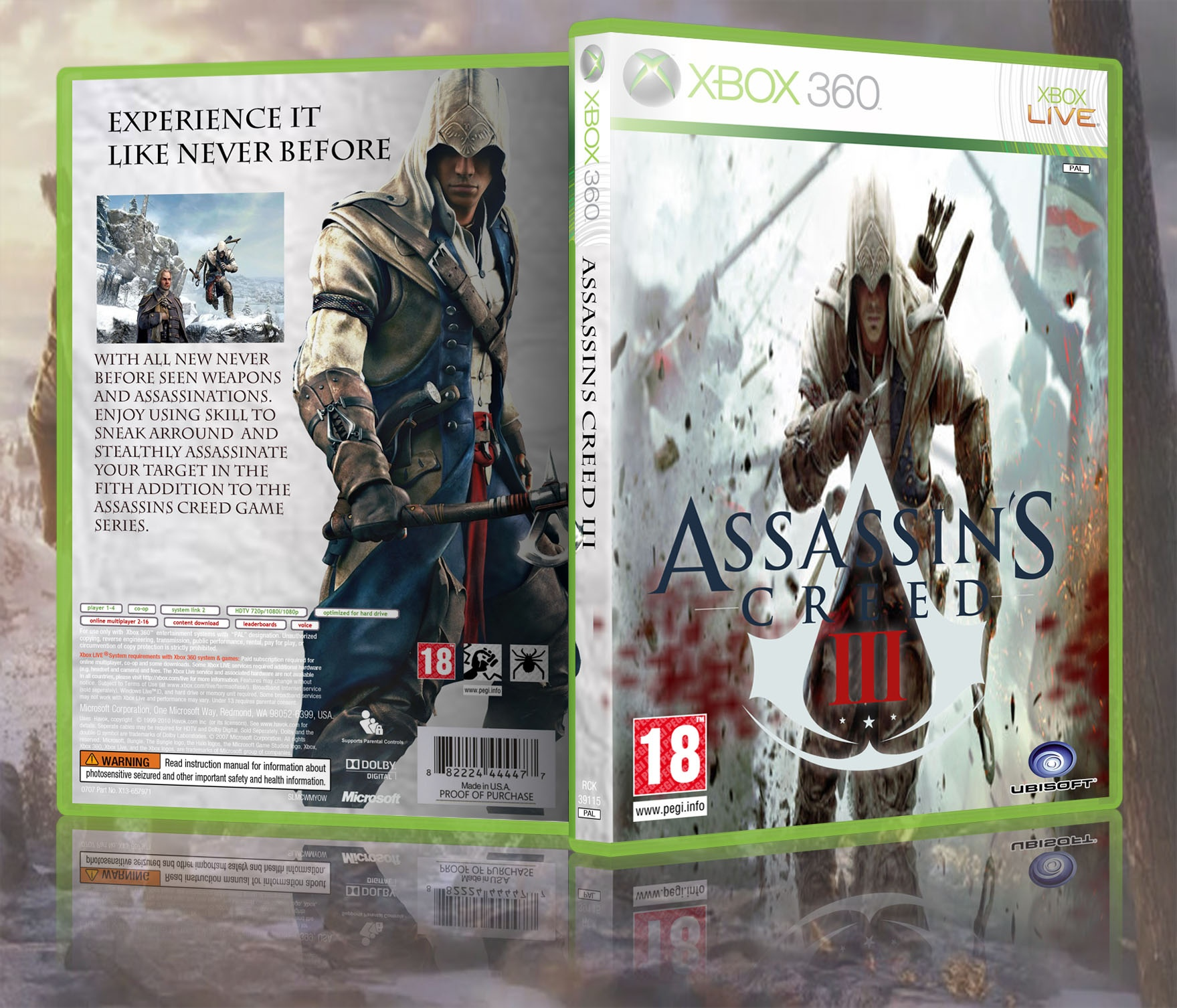 Assassins Creed III box cover