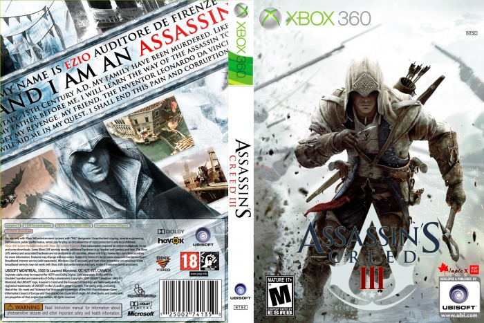Assasin Creed 3 Xbox 360 Box Art Cover By Aofro Mapleshop