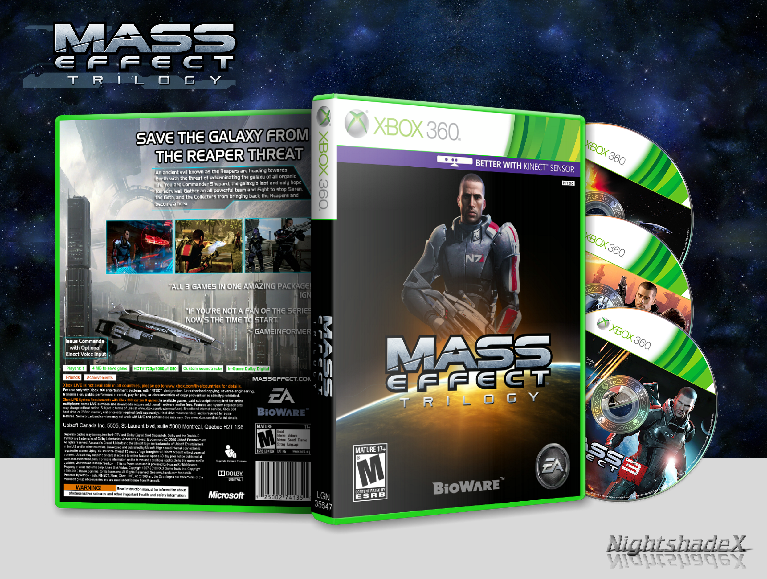 Mass Effect: Trilogy box cover
