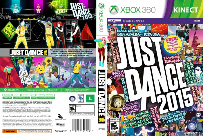 Just Dance 2015 box art cover