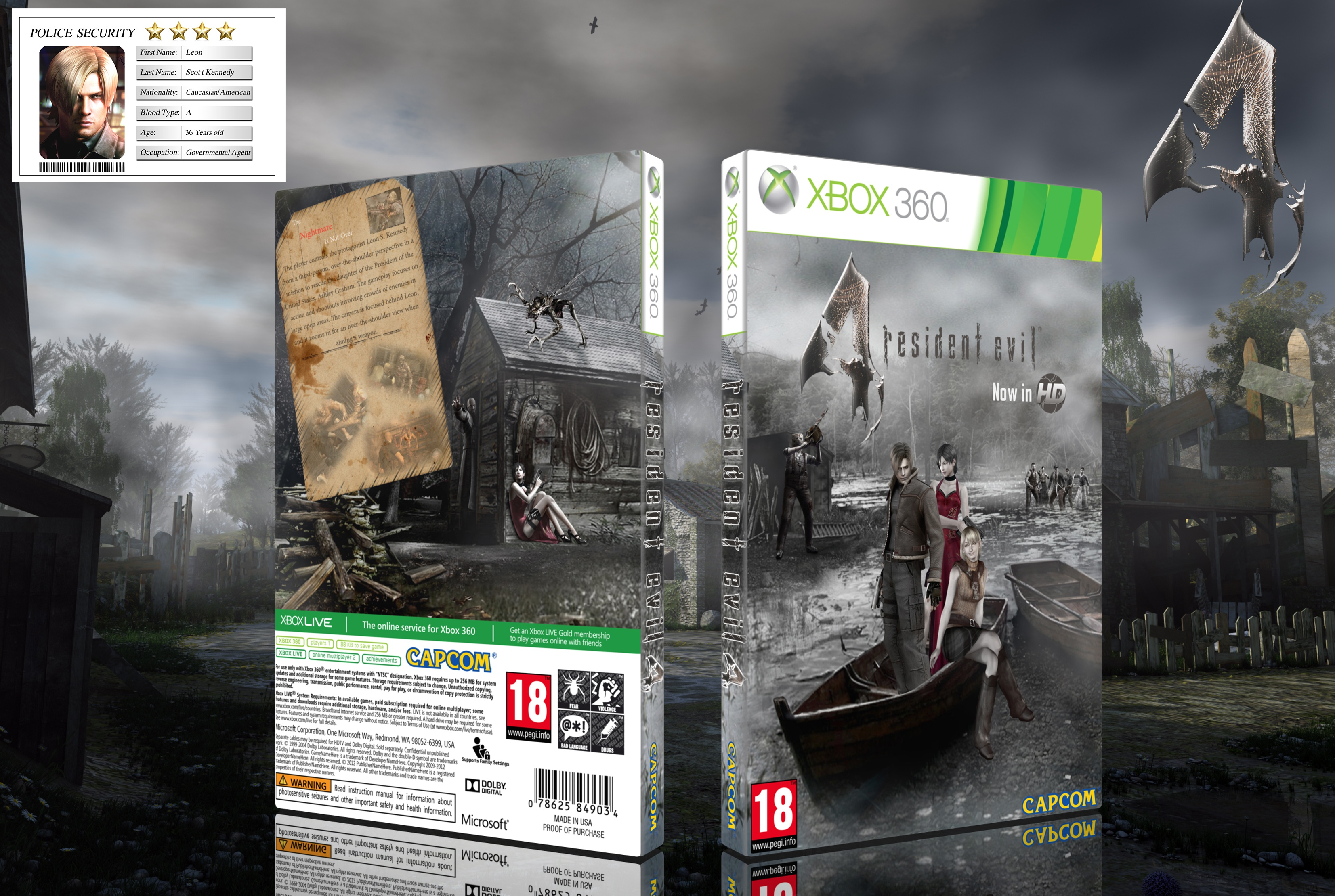 Resident Evil 4 HD box cover
