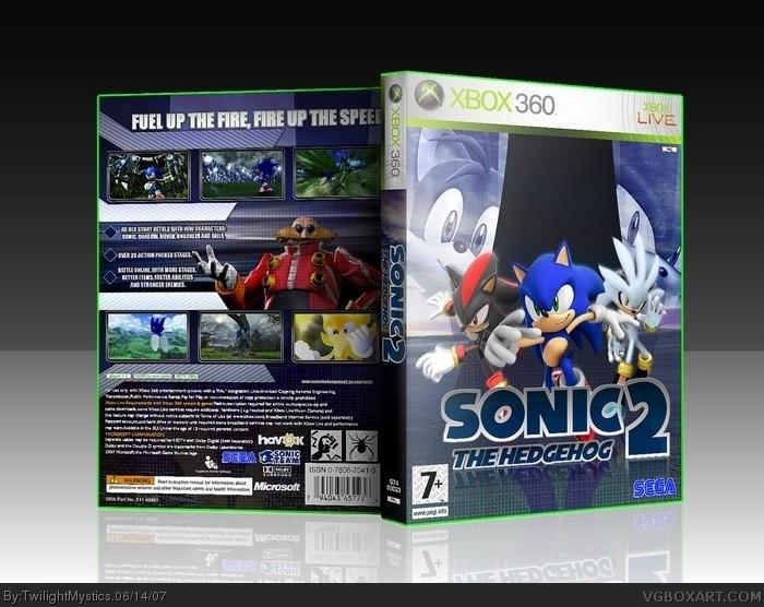 Sonic The Hedgehog Ii Xbox 360 Box Art Cover By Twilightmystics