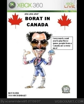 Borat: In Canada box cover