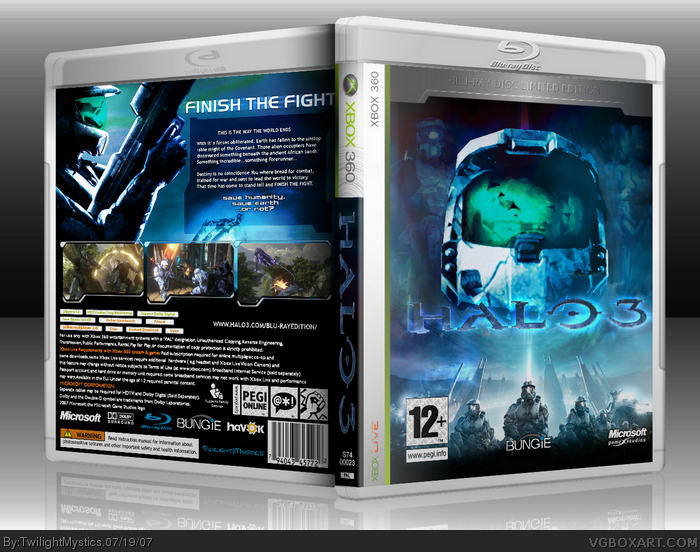Halo 3  (Blu-ray Limited Edition) box art cover