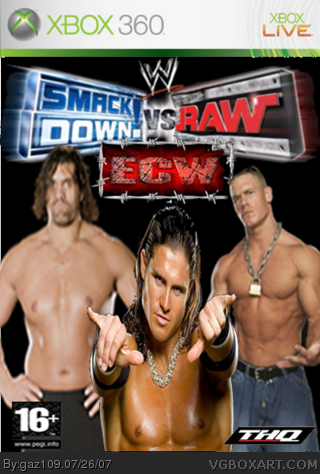 WWE SmackDown! vs. RAW 2008 box cover