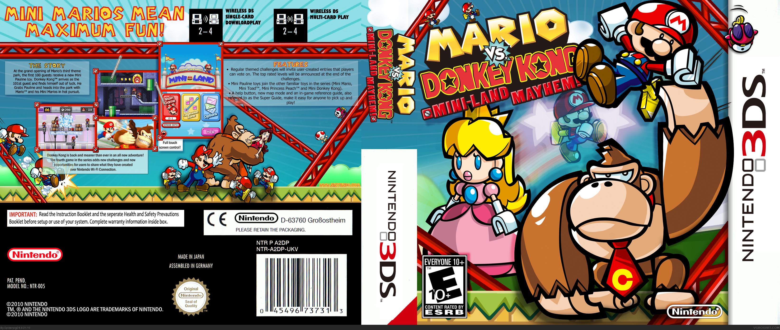 Mario vs. Donkey Kong: Mini-Land Mayhem! box cover