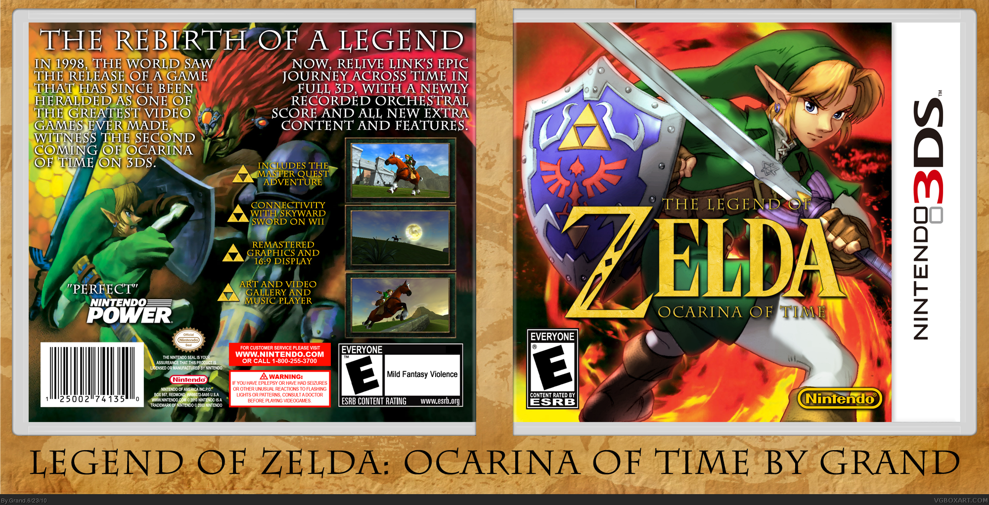 The Legend of Zelda: Ocarina of Time 3D box cover