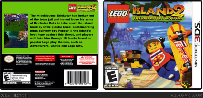 LEGO Island 2: The Brickster's Revenge (3DS) box art cover