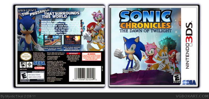 Sonic Chronicles: The Dawn of Twilight box art cover