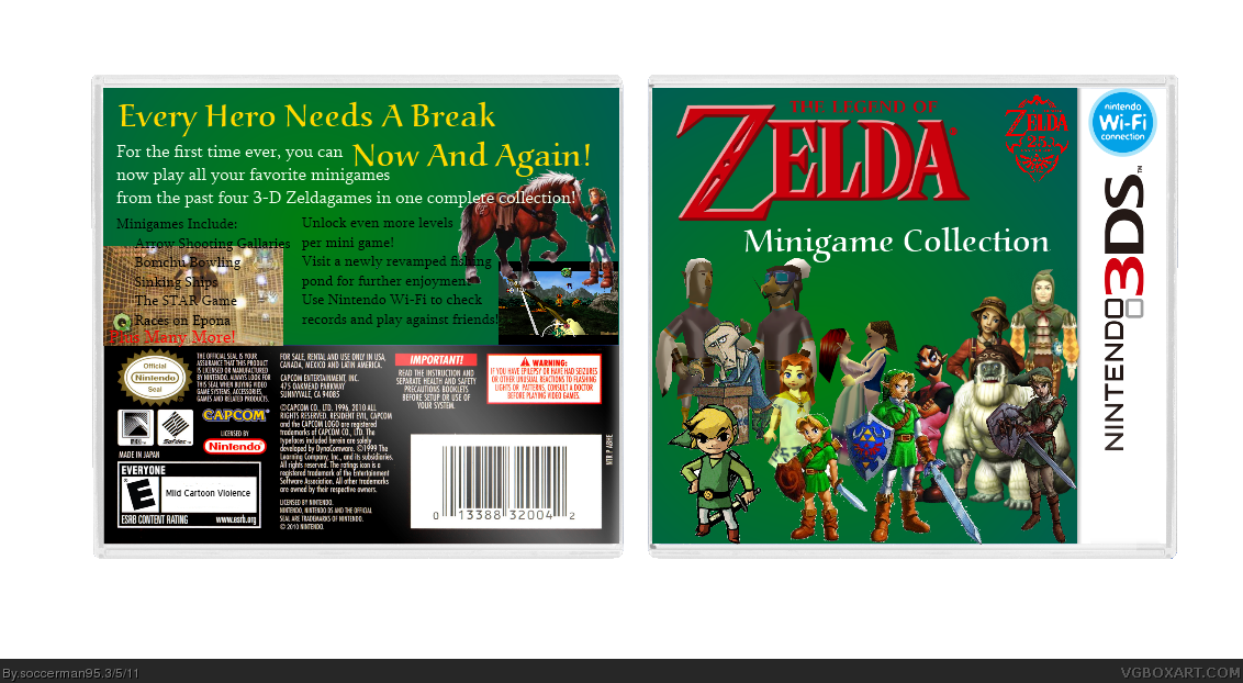 The Legend of Zelda: Minigame Collection box cover