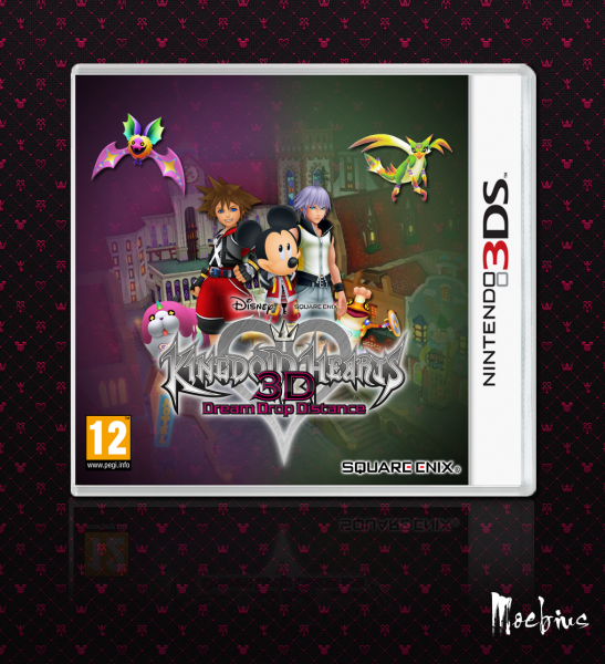 Kingdom Hearts 3D: Dream Drop Distance box art cover