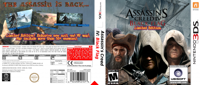 Assassin S Creed Iv Black Flag Nintendo 3ds Box Art Cover By