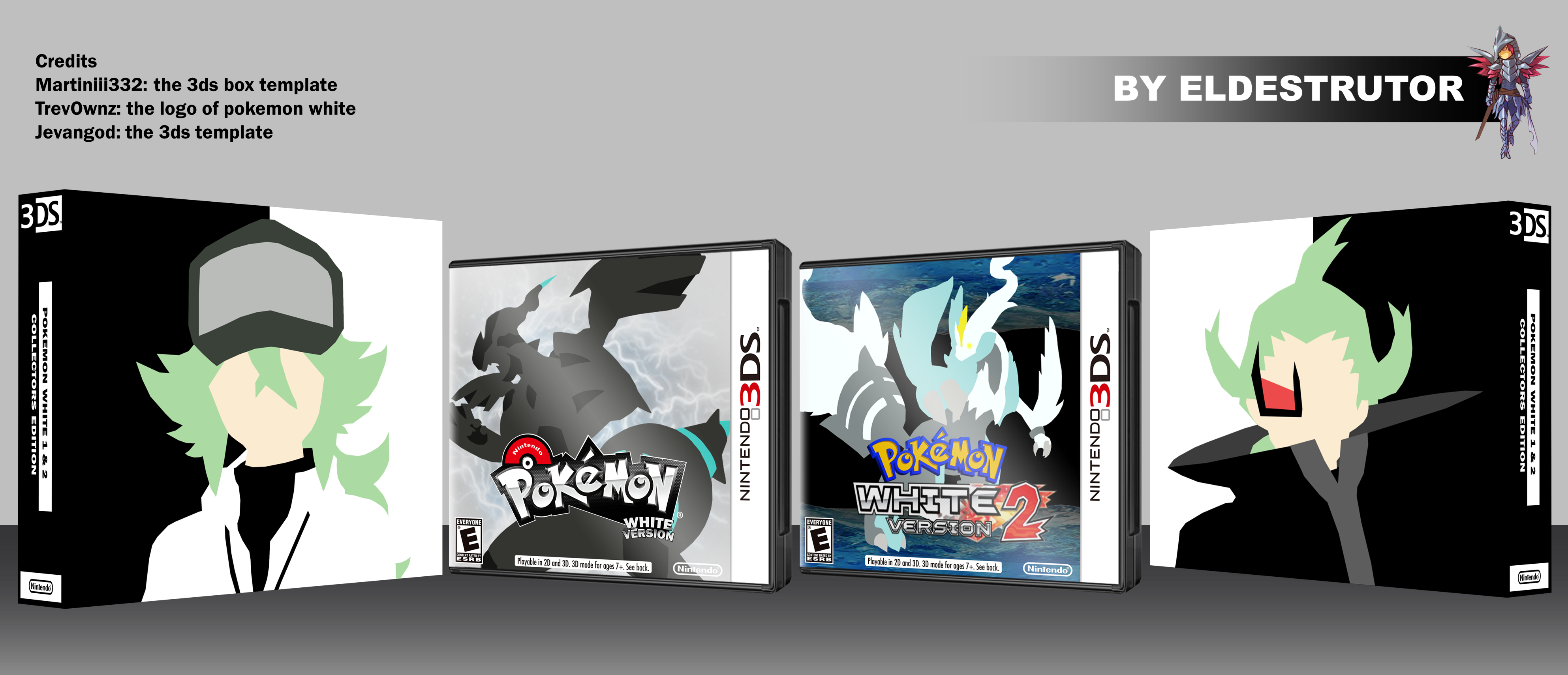 Pokemon white 1 & 2 collectors edition box cover