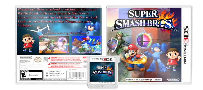 Super Smash Bros. 3DS box art cover