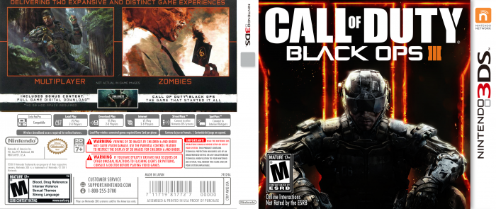 Call of Duty Black Ops 3 box art cover