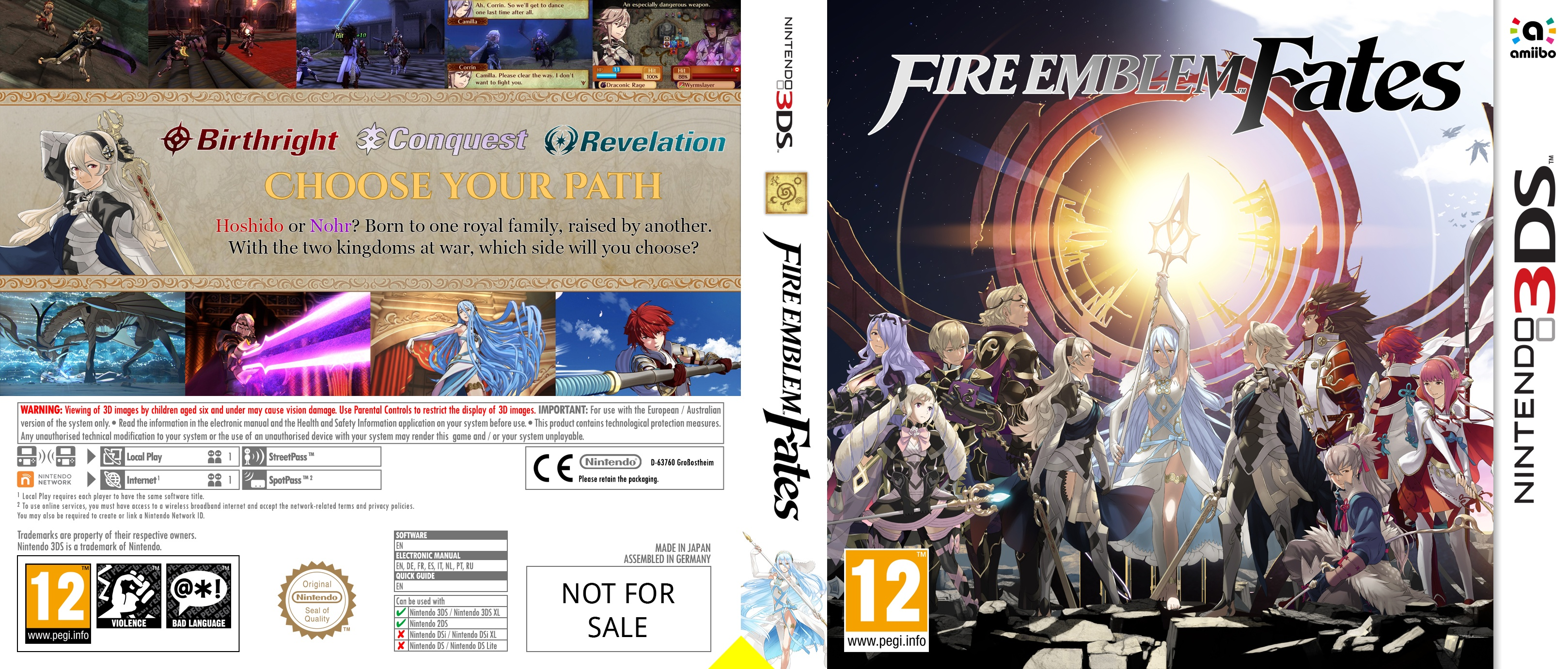 Fire Emblem Fates box cover
